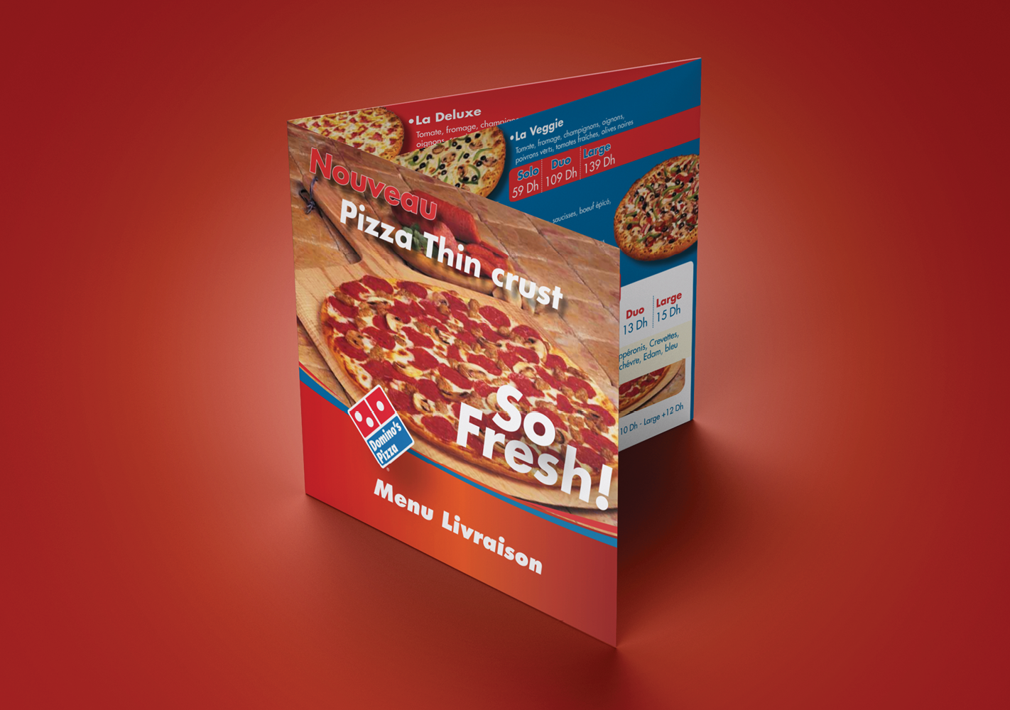#Menu 3 volets : Conception et exécution #Trifold menu : Design and execution